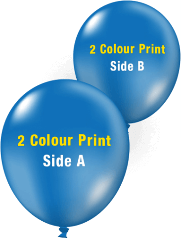 Custom Printed Balloons (30cm Crystal, 2 Colour Print, 2 Sides)