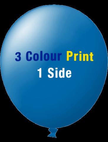 Custom Printed Balloons (30cm Standard, 3 Colour Print, 1 Side)