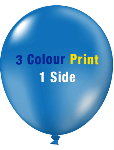 Custom Printed Balloons (30cm Crystal, 3 Colour Print, 1 Side)