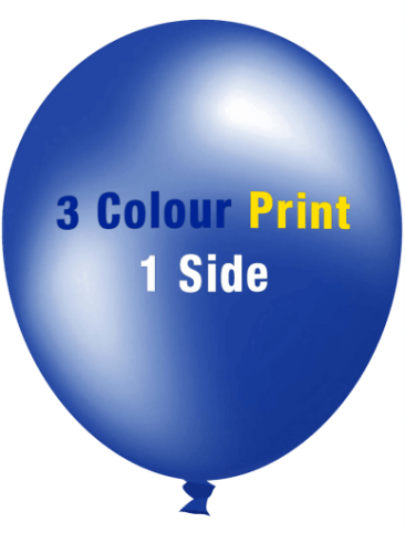 Custom Printed Balloons (30cm Metallic, 3 Colour Print, 1 Side)