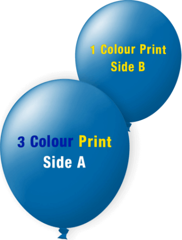 Custom Printed Balloons (30cm Standard, 3 Colours Print on Front, 1 Colour Print on Back)