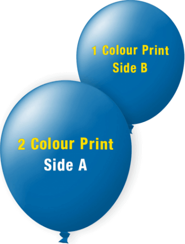 Custom Printed Balloons (30cm Standard, 2 Colour Print on Front, 1 Colour Print on Back)