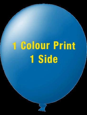 Custom Printed Balloons (72cm Standard, 1 Colour Print, 1 Side)