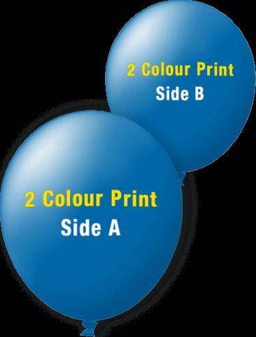 Custom Printed Balloons (40cm Standard, 2 Colour Print, 2 Sides)