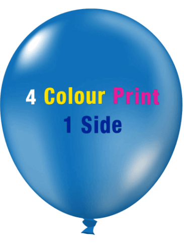 Custom Printed Balloons (30cm Crystal, 4 Colour Print, 1 Side)