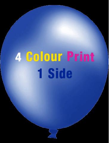 Custom Printed Balloons (30cm Metallic, 4 Colour Print, 1 side)